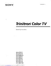 sony trinitron kv 32v16 manuals rh manualslib com sony wega trinitron user manual Sony Trinitron XBR TV Manual
