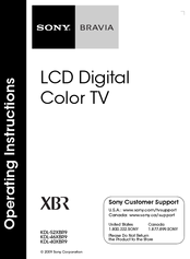 "Sony kdl-46xbr9 46"" bravia® xbr® 1080p lcd hdtv with 240hz anti."