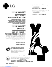 LG STEAM WASHER WM0742H*A User's Manual & Installation Instructions