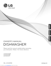 lg ldf6920st fully integrated dishwasher manuals rh manualslib com lg dishwasher owners manual ldf5545st lg dishwasher lds5540st owners manual