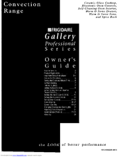 Frigidaire FEF389WFSG Owner's Manual