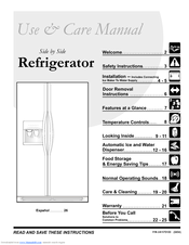 Frigidaire FRS26KF5D Use And Care Manual