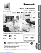 panasonic pv df2735 operating instructions manual pdf download