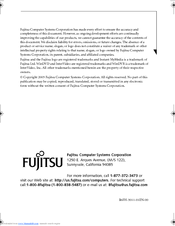 Fujitsu Lifebook N3510 User Manual