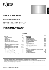 Fujitsu PDS4203W-H User Manual