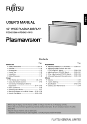 Fujitsu Plasmavision PDS4213 User Manual