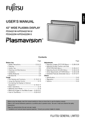 Fujitsu Plasmavision PDS4221 User Manual