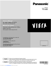 panasonic viera tc l42e3 owner s manual pdf download rh manualslib com