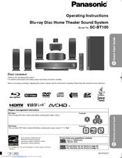 panasonic sabt100 blu ray dvd home theater sound system manuals rh manualslib com panasonic home theater manual pdf panasonic home theater system manual sa pt960
