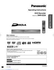 panasonic diga dmr ez28 manuals rh manualslib com Panasonic DVD Recorder Problems Recorder Sale DVD Panasonic Dmr -Ez28for