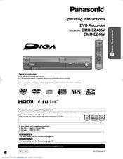 panasonic diga dmr ez48v manuals rh manualslib com Panasonic DVD VHS Recorder Panasonic Professional DVD Recorder