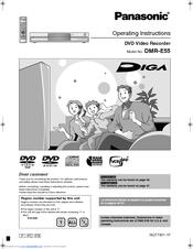 panasonic dmr e55 diga manuals rh manualslib com Panasonic DVD Recorder DMR E65 Panasonic DVD Recorder with Tuner
