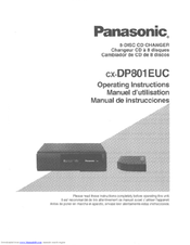 Panasonic CX-DP801 Operating Manual