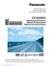 panasonic cxd3000u car dvd player manuals rh manualslib com Panasonic Portable DVD CD Player panasonic car dvd players manuel cy*-vhd