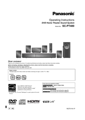 Panasonic SC-PT480P-K Operating Instructions Manual