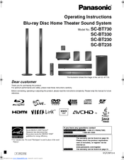 panasonic sabt230 blu ray home theater system manuals rh manualslib com panasonic home theater system manual panasonic home theater system manual