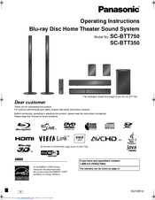 panasonic sabtt350 3d blu ray home theatre manuals rh manualslib com panasonic home theater system manual sa pt960 panasonic theater system soundbar manual