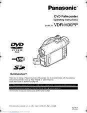 Panasonic VDR-M10 Camcorder External Microphone