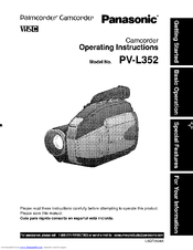Panasonic PV-L352 Operating Manual