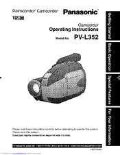 Panasonic PV-L352 Operating Manual