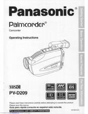 Panasonic PVD209D - VHS-C CAMCORDER Operating Manual