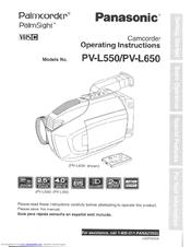 panasonic pvl550d vhs c camcorder manuals rh manualslib com panasonic m10 video camera manual panasonic m10 video camera manual