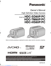 panasonic hdc tm80 manuals rh manualslib com Panasonic Cordless Phones Panasonic Manuals Servo Motors