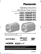 инструкция panasonic hdc sd60