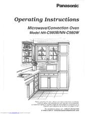 Panasonic Nnc980w Microwave Conv Oven Manuals
