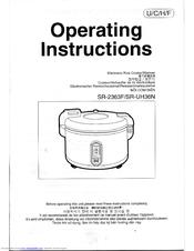 panasonic sr2363f sps rice cooker warm manuals rh manualslib com tefal rice cooker instruction manual zojirushi rice cooker instruction manual