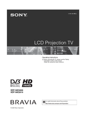 sony kdf 46e2000 projection tv service manual download