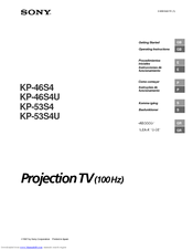 Sony KP-53S4 Operating Instructions