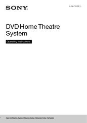 Sony DAV-DZ340K Operating Instructions Manual