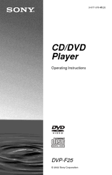 Sony DVP-F25 Operating Instructions Manual