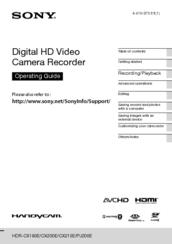 Sony HDR-PJ200E Instruction & Operation Manual