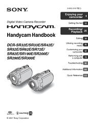 Sony DCR-SR42E - 30gb Hard Disk Drive Handycam Camcorder Instruction & Operation Manual