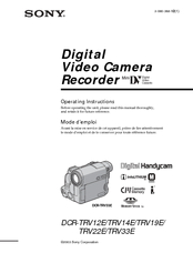 Sony DCR-TRV14E Operating Instructions Manual