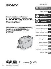 sony handycam dcr dvd605e manuals rh manualslib com sony hybrid handycam dcr- dvd110 manual sony handycam hybrid hdd manual