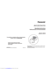 Panasonic EW-3106 Operating Instructions Manual