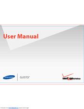 samsung gusto sch u360 user manual pdf download rh manualslib com USB Cord for Samsung Gusto 2 Samsung Gusto 2 Battery