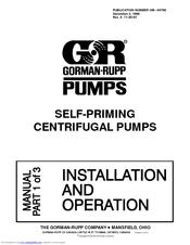 gorman rupp self priming centrifugal pumps manuals rh manualslib com gorman rupp ghs series manual gorman rupp 80 series manual