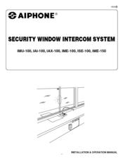 Aiphone Iai 100 Installation And Operation Manual Pdf Download Manualslib