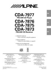 alpine cda 7873 owner s manual pdf download rh manualslib com Alpine CDA 7893 Wiring-Diagram alpine cda-7873 manual