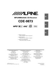 alpine cde 9873 manuals rh manualslib com alpine cde 9873 manual alpine cde 9873rb manual