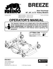 RHINO 48-INCH OPERATOR'S MANUAL Pdf Download