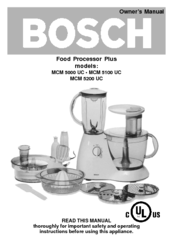 Bosch MCM 5000 UC Owner's Manual