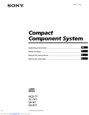 Sony SA-N1 Operating Instructions Manual