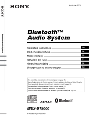 Sony XPlod MEX-BT5000 Operating Instructions Manual