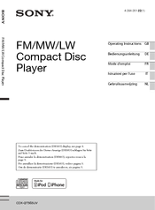 sony cdx gt565uv manuals rh manualslib com Sony Xplod Pigtail Sony Cdx Gt56ui Installation