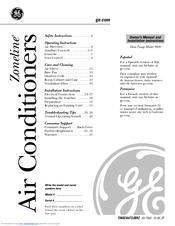 Ge Zoneline Az58h12dad Manuals